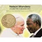 Coincard Jean Paul II et Nelson Mandela - Les papes au Vatican