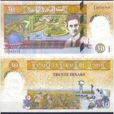 P.89 Tunisie - Billet de 30 Dinar