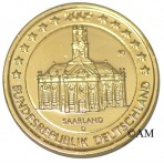 Allemagne 2009 - 2 euro commémorative dorée à l'or fin 24 carats