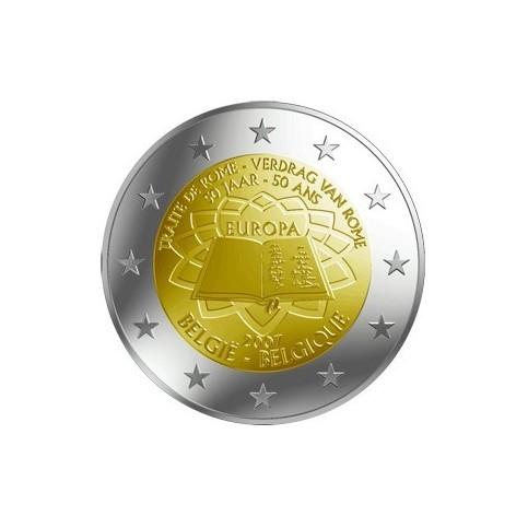 BELGIQUE TRAITE DE ROME - 2 EUROS COMMEMORATIVE