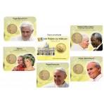 """Série complète des 5 coincards """"Les papes au Vatican"""""""