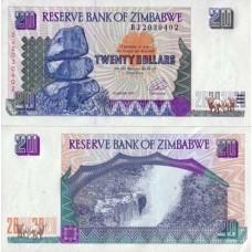 P.7 Zimbabwe - Billet de 20 Dollars