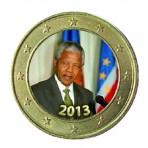 Nelson Mandela 2013 - 1 euro domé couleur