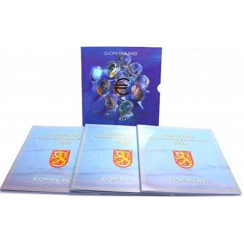 Finlande - Triple coffret BU 1999, 2000, 2001