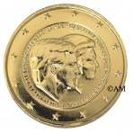 Pays-Bas 2014 - 2 euro commémorative dorée à l'or fin 24 carats
