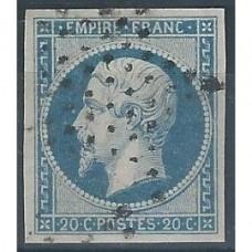 Timbre de France N°14 Oblitéré