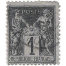 Timbre de France N°83 Oblitéré