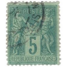 Timbre de France N°75 Oblitéré