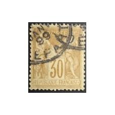Timbre de France N°80 Oblitéré