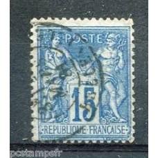 Timbre de France N°90 Oblitéré