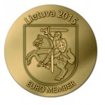 Lituanie 2015 - Pièce en bronze florentin commémorative adoption de l'euro