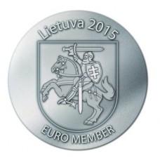 Lituanie 2015 - Pièce commémorative argentée adoption de l'euro