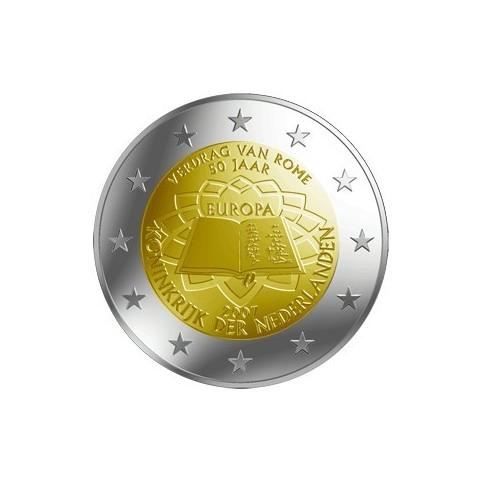 PAYS BAS TRAITE DE ROME - 2 EUROS COMMEMORATIVE