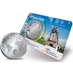 """Pays-Bas 2014 - Coincard 5 euro """"Les Moulins à vent"""""""