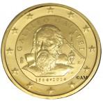 "Italie 2014 - 2 euro commémorative ""Galilée"" dorée à l'or fin 24 carats"