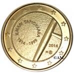 Finlande 2014 - 2 euro commémorative Ilmari Tapiovaara dorée à l'or fin 24 carats