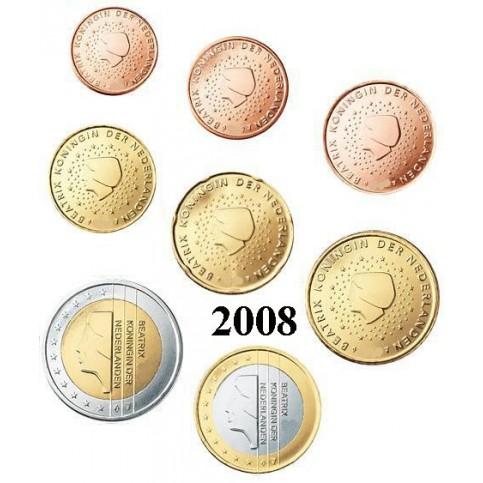 Pays-Bas 2008 : Série complète euro neuve