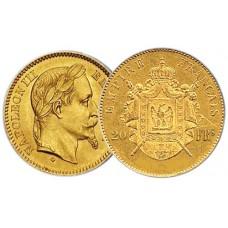 20 Francs Or Napoléon III tête laurée - Miniaturisation 2009