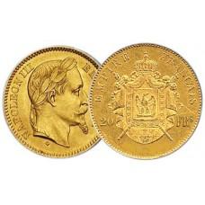 20 Francs Or Napoléon III tête laurée - Miniaturisation 2012