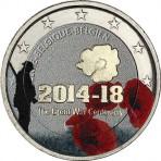 Belgique 2014 - 2 euro commémorative 100ème anniversaire 1ère guerre mondiale en couleur