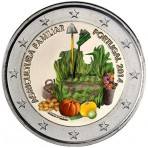 Portugal 2014 - 2 euro commémorative Année de l'Agriculture Familiale en couleur