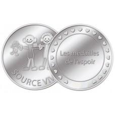 Médaille associative Source Vive - couleur argent