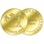 Médaille associative Source Vive - couleur or