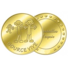 Médaille associative Source Vive - couleur or