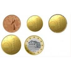 Andorre 2014 - Série courte euro neuve de 5 pièces euro
