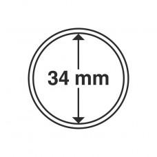 Capsules pour médailles touristiques 34 mm