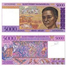 P.78 Madagascar - Billet de 5000 Francs