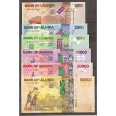 Billets Ouganda - Série des 6 valeurs
