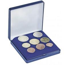 Coffret pour série complète de huit pièces euro