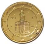 Allemagne 2015 - 2 euro commémorative Eglise Saint Paul de Francfort dorée à l'or fin 24 carats