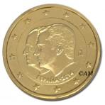Espagne 2014 - 2 euro commémorative Juan Carlos I & Felipe VI dorée à l'or fin 24 carats