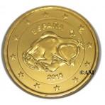 Espagne 2015 - 2 euro commémorative dorée à l'or fin 24 carats