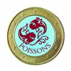1 euro domé Signes du Zodiaque - Poisson