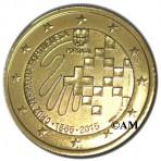 Portugal 2015 - 2 euro commémorative dorée à l'or fin 24 carats