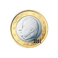 Belgique 1 EURO  2001