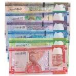 Gambie - Série de 6 Billets de 5 à 200 Dalasis