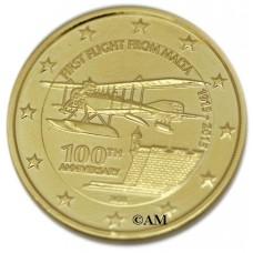 Malte 2015 - 2 euro commémorative dorée à l'or fin 24 carats