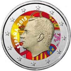 Espagne 2015 - 2 euro FELIPE en couleur