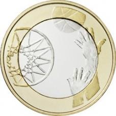 """Finlande 2015 - 5 euro """"Le Basket"""""""