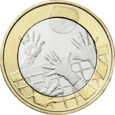 "Finlande 2015 - 5 euro ""Le Volley Ball"""