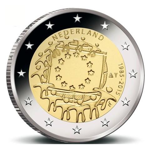 Pays-bas 2015 - 2 euro commémorative 30 ans du drapeau européen