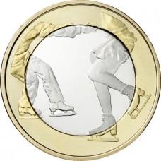 """Finlande 2015 - 5 euro """"Le patinage artistique"""""""