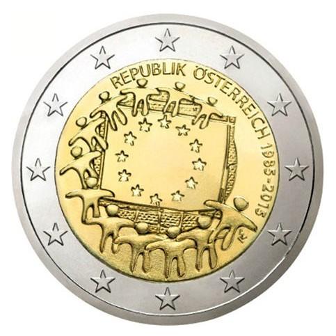 Autriche 2015 - 2 euro commémorative 30 ans du drapeau européen