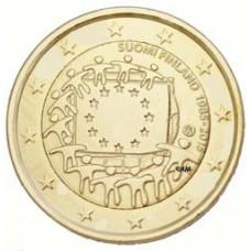 Finlande 2015 - 2 euro commémorative 30 ans du drapeau européen dorée or fin 24 carats