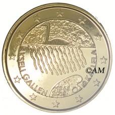 Finlande 2015 - 2 euro commémorative Gallen-Kallela dorée à l'or fin 24 carats