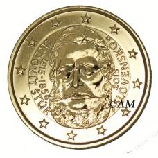 slovaquie 2015 - 2 euro commémorative Ludovit Stur dorée à l'or fin 24 carats